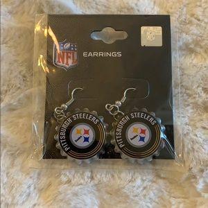 Brand new! Pittsburgh Steelers bottlecap earrings